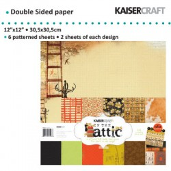 "Kaiser craft paper pack 12x12"" 150g 6x2ass. in the attic"