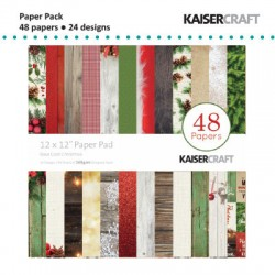 "Kaiser craft paper pad 12x12"" basecoat christmas"