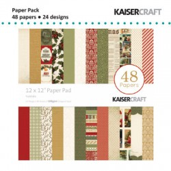 "Kaiser craft paper pad 12x12"" yuletide"