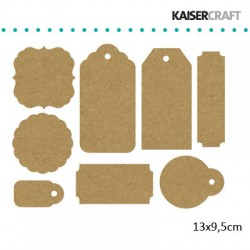 Kaiser craft tag pack 13x9.5cm raw