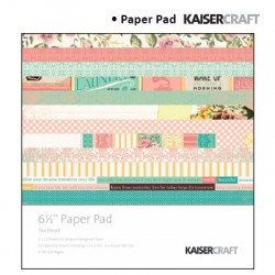Kaiser craft tea break paper pad 6,5x6,5""