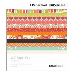 Kaiser craft spring bloom paper pad 6,5x6,5""
