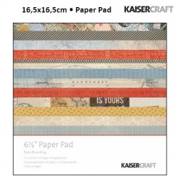 Kaiser craft now boarding paper pad 6,5x6,5""