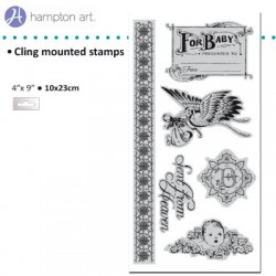 Graphic45 Gummi Stempel klebend little darlings cling 2