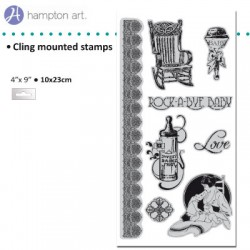 Graphic45 Gummi Stempel klebend little darlings cling 3