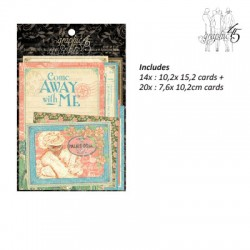 Graphic come away with me journaling & ephemera card