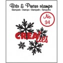 Crealies Clearstamp Bits&Pieces no. 34 Snowflake 4