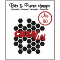 Crealies Clearstamp Bits&Pieces no. 30 honeycomb