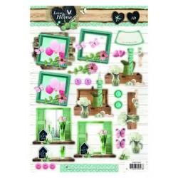 Studio Light Easy 3D Decoupage Bogen A4 Love & Home nr 507