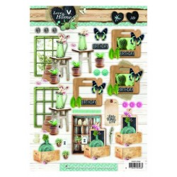 Studio Light Easy 3D Decoupage Bogen A4 Love & Home nr 508