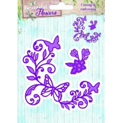 Studio Light Embossing Die Cut Stencil Beautiful Flowers nr 02