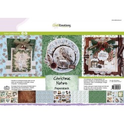 CraftEmotions Paper stack Christmas Nature 11 Bogen A4