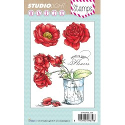 Studio Light Clearstempel A6 Rosen in einem Topf nr 136