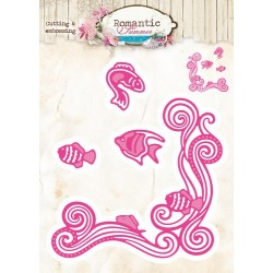 Studio Light Embossing Die Cut Stencil Romantic Summer nr 09