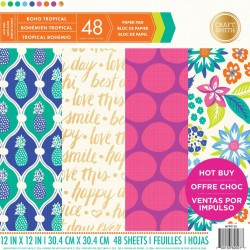 Craft Smith Boho Tropical 12x12 Inch Paper Pad