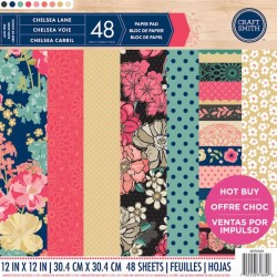 Craft Smith Chelsea Lane 12x12 Inch Paper Pad