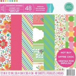 Craft Smith Rainbow Sherbet 12x12 Inch Paper Pad