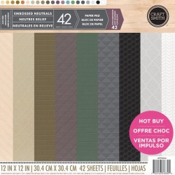 Craft Smith Embossed Neutrals 12x12 Inch Paper Pad