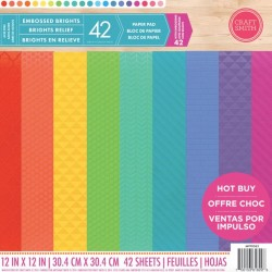 Craft Smith Embossed Brights 12x12 Inch Paper Pad