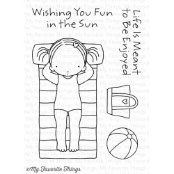 My Favorite Things Fun In The Sun Clear Stamps