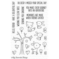 My Favorite Things Sweet Forest Friends Clear Stamps