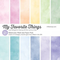 My Favorite Things Watercolor Wash 6x6 Inch Paper Pack
