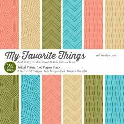 My Favorite Things Tribal Prints 6x6 Inch Paper Pack