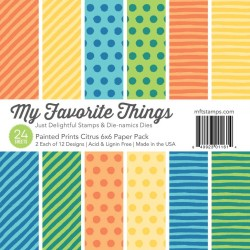 My Favorite Things Painted Prints Citrus 6x6 Inch Paper Pack