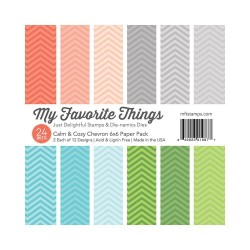 My Favorite Things Calm & Cozy Chevron 6x6 Inch Paper Pack