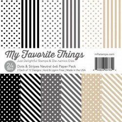 My Favorite Things Dots & Stripes Neutral 6x6 Inch Paper Pack