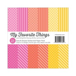 My Favorite Things Dots & Stripes Sorbet 6x6 Inch Paper Pack