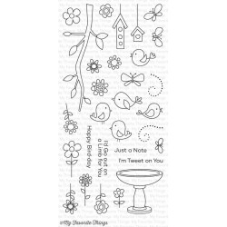 My Favorite Things I'm Tweet on You Clear Stamps