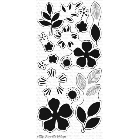 My Favorite Things Flashy Florals Clear Stamps