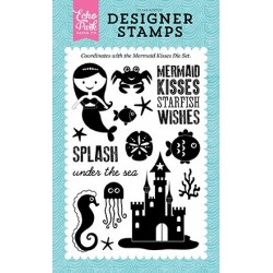 Echo Park Mermaid Kisses 4x6 Inch Clear Acrylic Designer Stamps