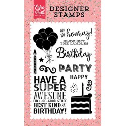 Echo Park Hip Hip Hooray 4x6 Inch Clear Acrylic Designer Stamps
