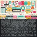 Echo Park Party Time 12x12 Inch Alpha Sticker Sheet