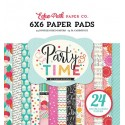 Echo Park Party Time 6x6 Inch Paper Pad