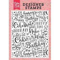 Echo Park Make a Wish 4x6 Inch Clear Acrylic Designer Stamps