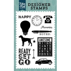Echo Park Ready Set Go Clear Acrylic Designer Stamps