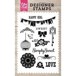 Echo Park Simply Sweet Clear Acrylic Designer Stamps