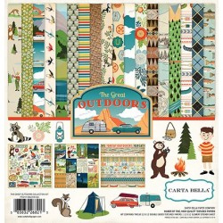 Carta Bella The Great Outdoors 12x12 Inch Collection Kit