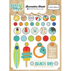 Carta Bella Beach Day Decorative Brads