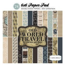 Carta Bella Old World Travel 6x6 Inch Paper Pad