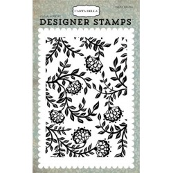 Carta Bella Victorian Floral 4x6 Inch Clear Acrylic Designer Stamps