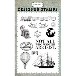 Carta Bella Post Card 4x6 Inch Clear Acrylic Designer Stamps