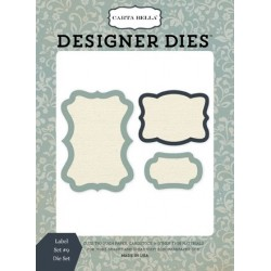 Carta Bella Label Set #9 Designer Dies