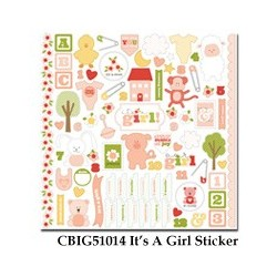 Carta Bella It's a Girl 12x12 Inch Sticker Sheet