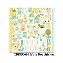 Carta Bella It's a Boy 12x12 Inch Sticker Sheet