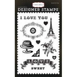Carta Bella Amour 4x6 Inch Clear Acrylic Designer Stamps