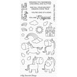 My Favorite Things Magical Unicorns Clear Stamps - Einhorn